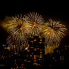 Vancouver Fireworks - from 26th floor, Century Plaza Hotel