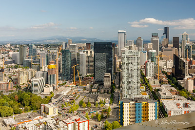 Seattle & Cascades - from Space Needle
