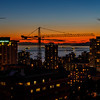 Vancouver - English Bay Afterglow, from 26th floor, Century Plaza Hotel