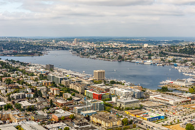 Seattle & Lake Union - from Space Needle