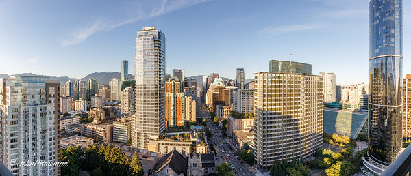 Vancouver Panorama - from 27th floor, Century Plaza Hotel