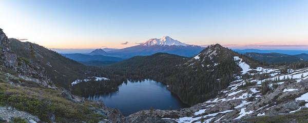 Sunset Panorama at Castle Lake