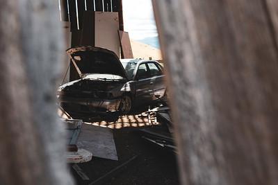 Abandoned Subaru Legacy GT