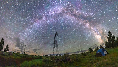 Milky Way Galaxy above Northern California