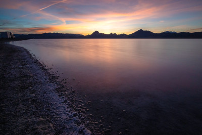 Sunset at Bonneville Salt Flats