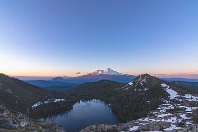 Sunset at Castle Lake