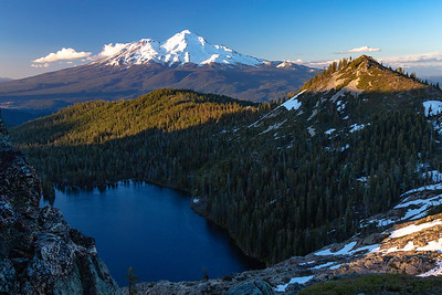 Overlooking Castle Lake and Mount Shasta