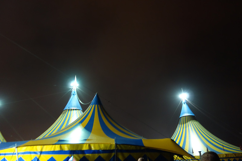 The tents.