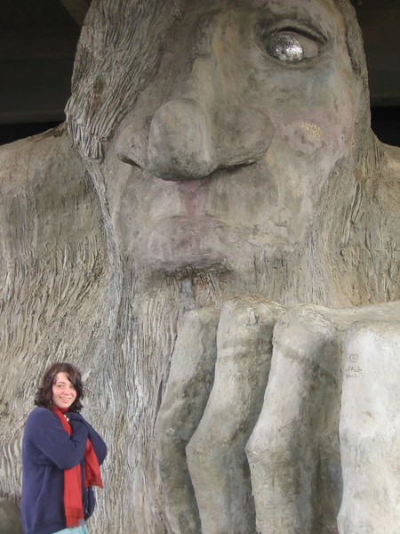 Natasha and the Fremont Troll.