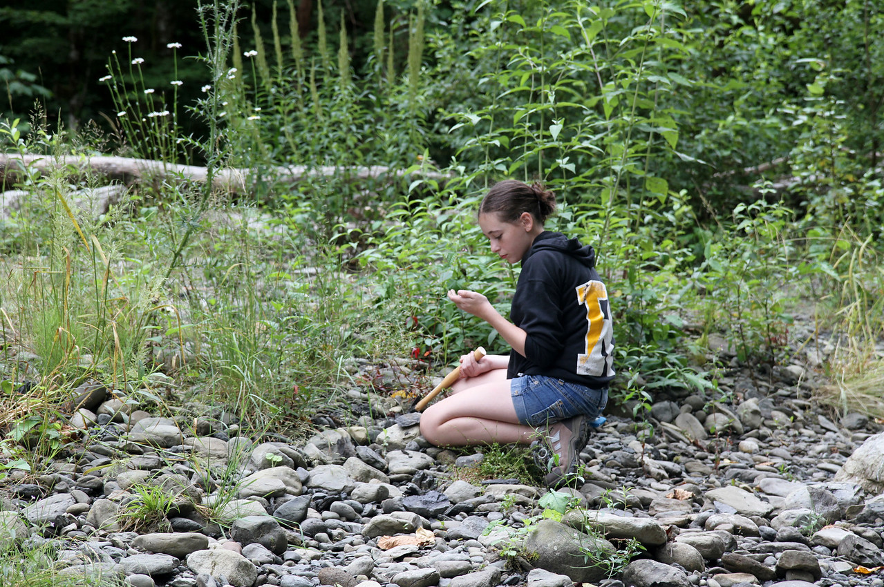 May looking for fossils.