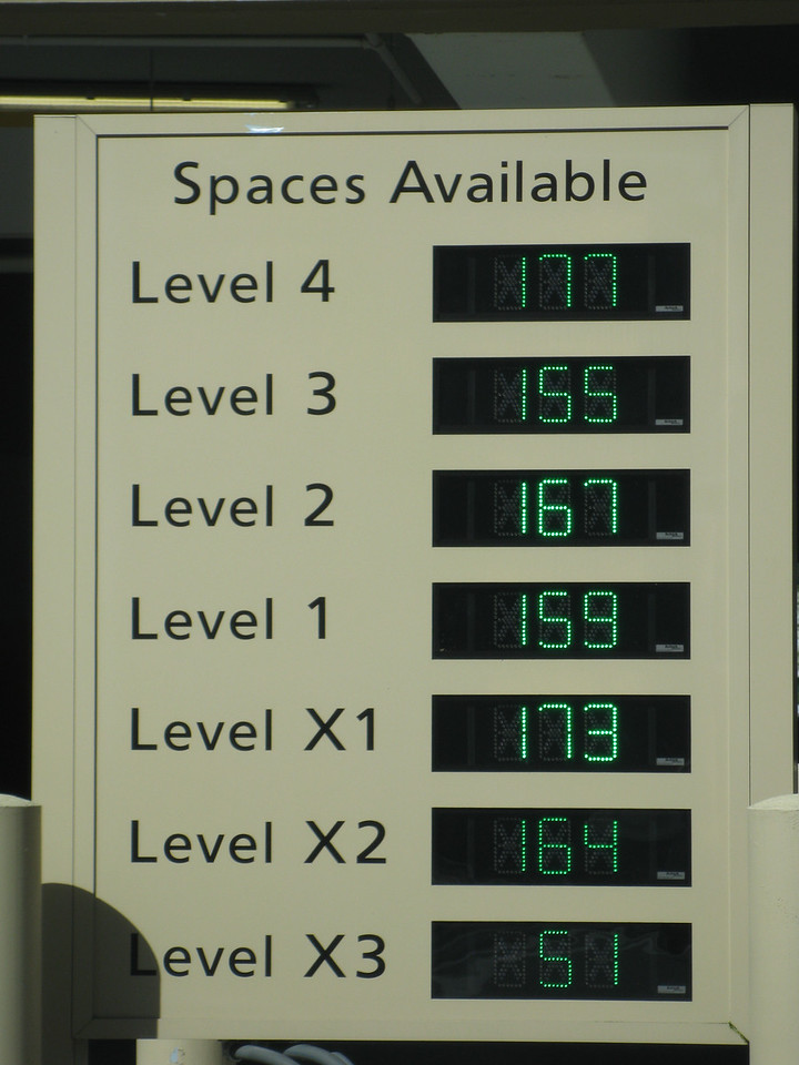 The new garages tell you what level has parking spaces available.