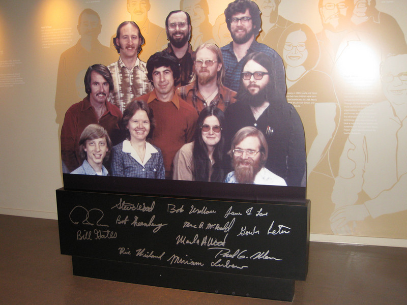 Picture of Microsoft's founders at the Visitor Center. I love that Bill looks like he's 12.