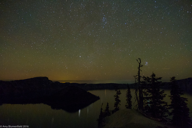 Moonless night over Crater Lake