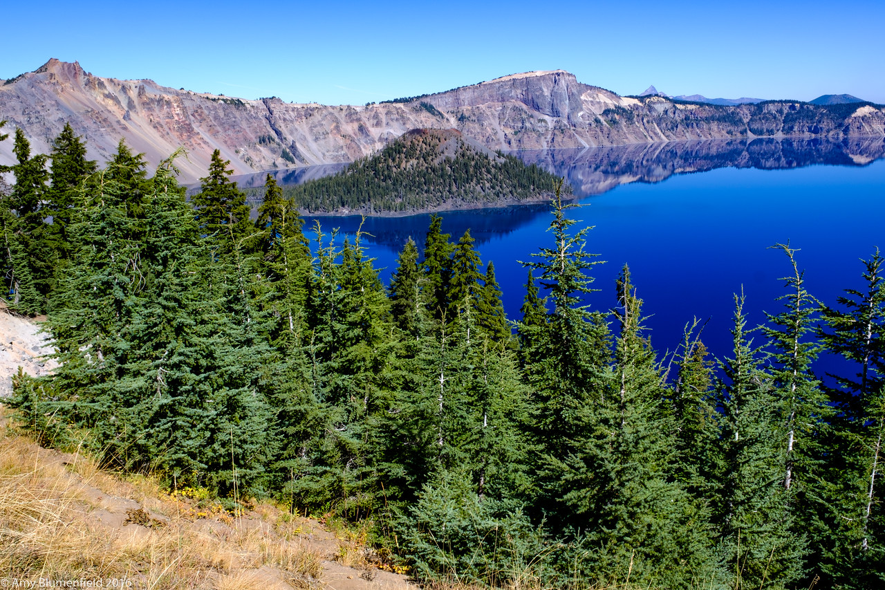 Yes, it really is that blue. Crater Lake/Wizard Island.