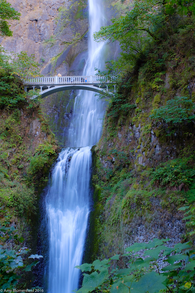 A portion of Multnomah Falls