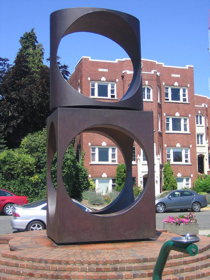 Sculpture in Queen Anne section of Seattle