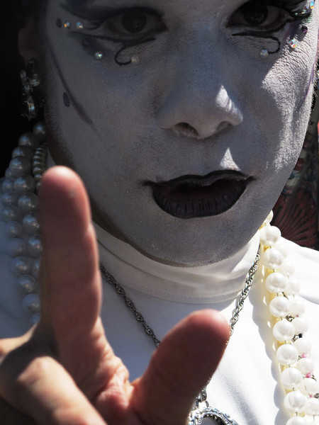 One of the Sisters of Perpetual Indulgence.