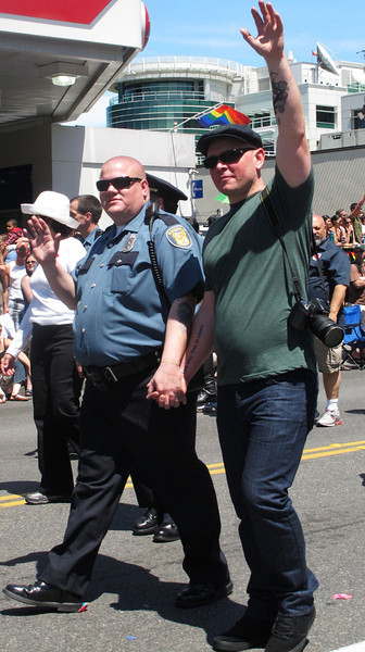 Gay Seattle cops marched.