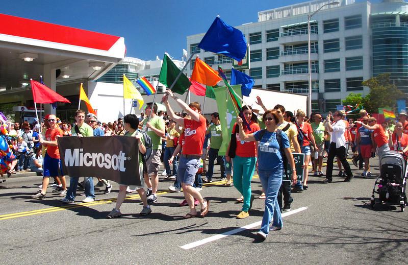 Microsoft had a nice turnout.