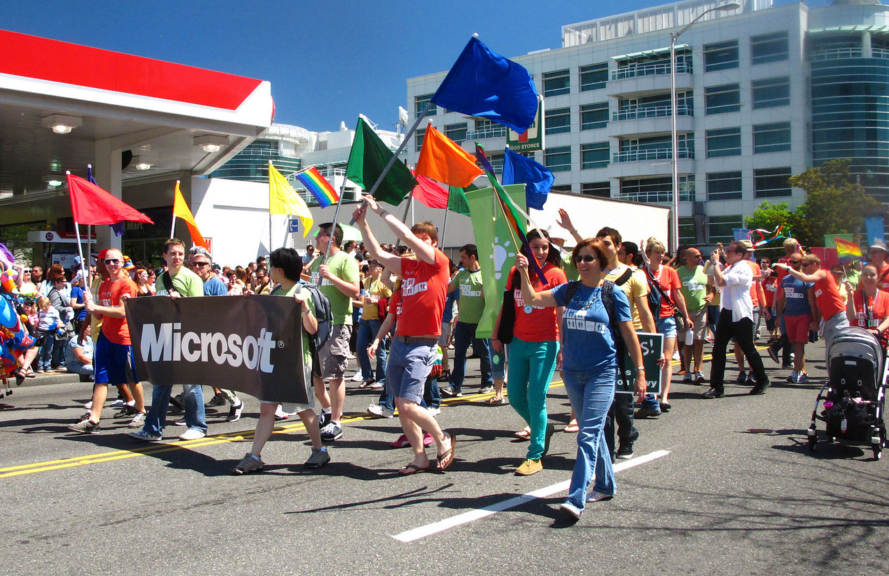 Microsoft had a nice turnout.