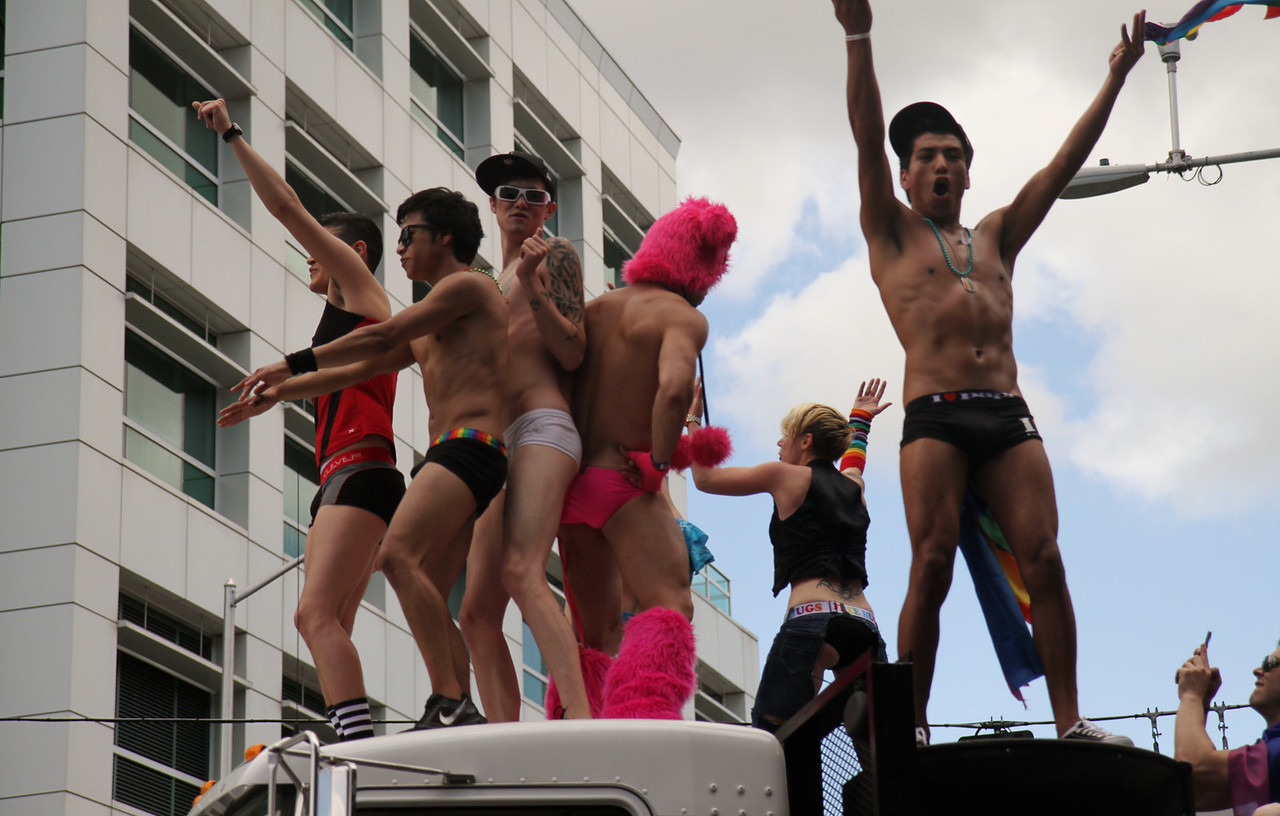 This is the obligatory picture that one must take at every Pride parade.