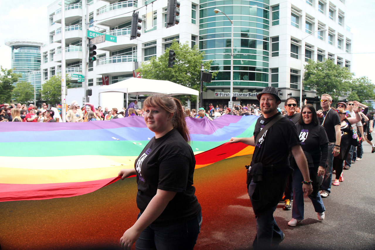 Giant pride flag.