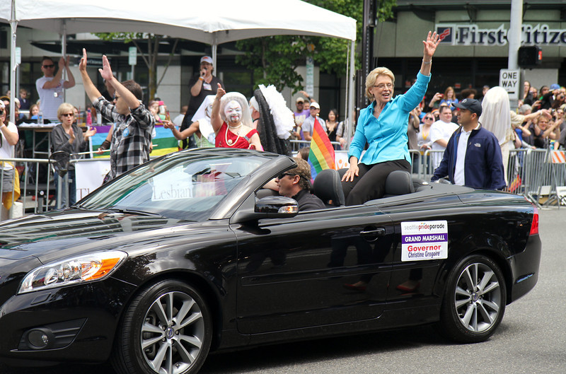 Governor Gregoire, who signed gay marriage into law this year. Of course, it's on the ballot in November to be repealed.