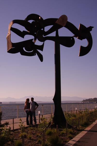 Sculpture, Elliott Bay and the Olympic Mountains.