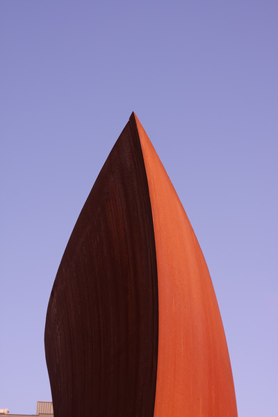 Sculpture and blue sky.