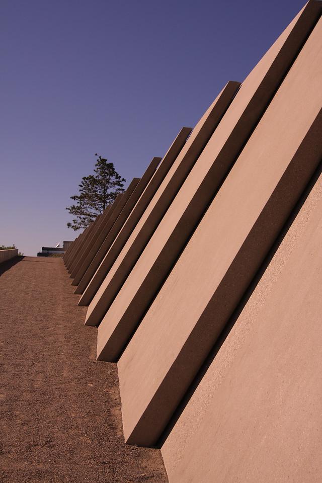 Retaining wall.