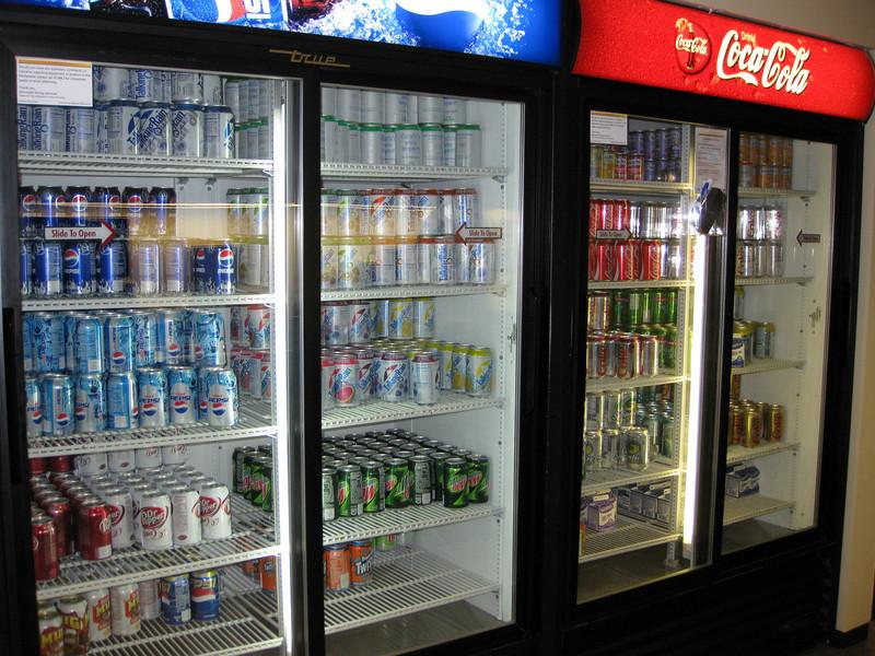 Free soft drinks!