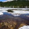 Rainier lake snowmelt