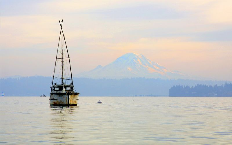 from boat launch at Manchester Washington