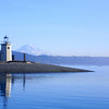 Lighthouse at entrance to Gig Harbor Washington