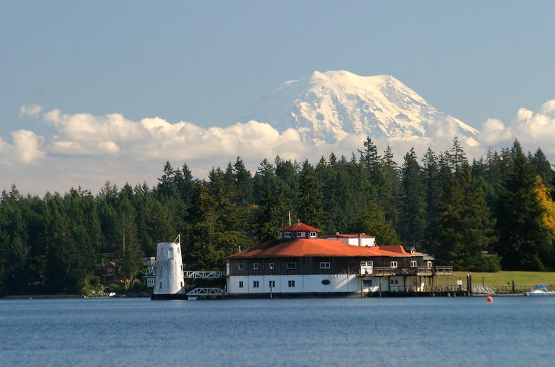 This is Tanglewood Island, adjacent to Fox Island near Gig Harbor Washington. Mt Rainier in background.