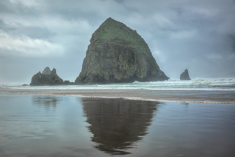 Haystack at Ruby Beach on a Cloudy Day