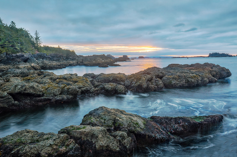 Sunrise at Amphitrite Point, Ucluelet