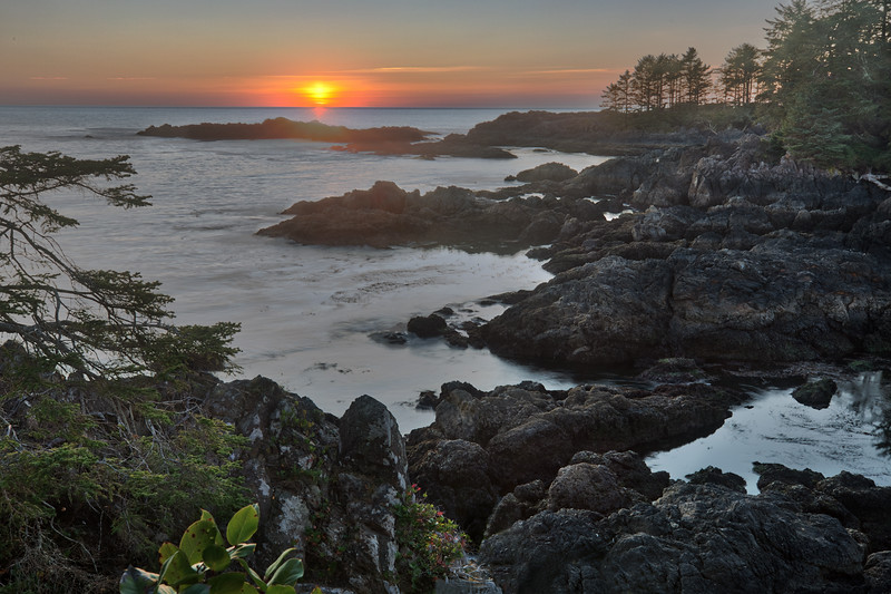 Sunset at Amphitrite Point, Ucluelet