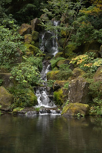 Japanese Garden Waterfall, Portland, OR