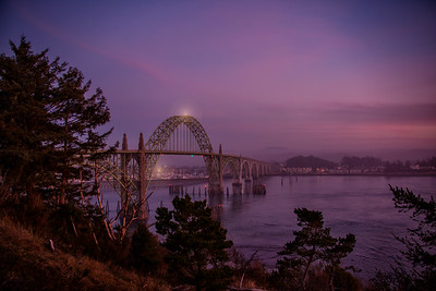 Yaquina Bay Bridge January Sunset