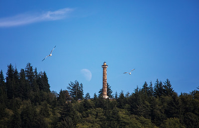 Astoria Column With Rising Moon