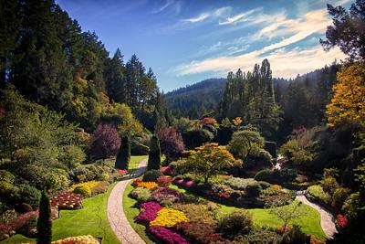 Sunken Gardens Butchart Gardens
