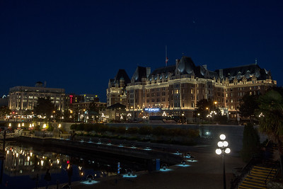 Victoria Inner Harbor and Fairmont Empress Hotel Evening Lights