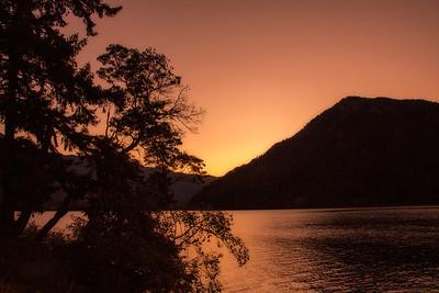 Fall Sunset Lake Crescent