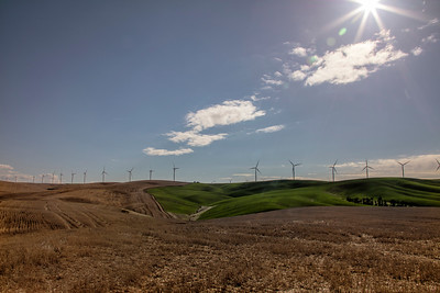 Palouse wide angle sunstar spring wind turbines Hwy 127 3-23-17