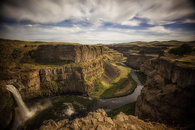 Palouse Falls and Canyon Wide Angle