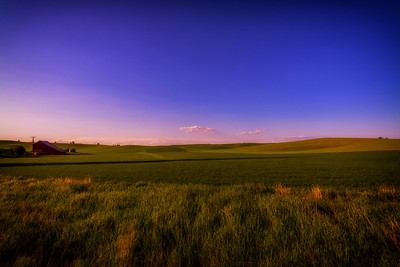 Nearing sunset Palouse Farm near Cheney WA 5-30-15