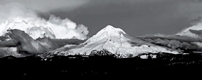 Mt. Hood, Oregon as seen from Portland