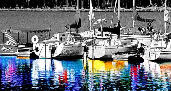 Elk Lake, sail boats- Central Oregon