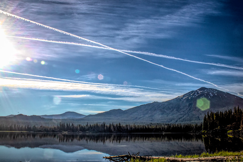 Contrails over Bachelor